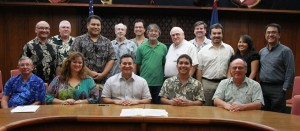 """""""AEL"""" – Members of various organizations from Guam's architectural, engineering and land surveying industries joined Governor Calvo in proclaiming """"Architects, Engineers and Land Surveyors Week"""" at Adelup today."""