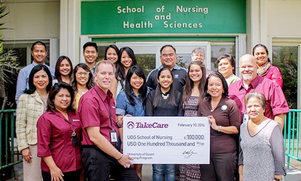 Takecare Donates 100k To Uog School Of Nursing And Health Sciences