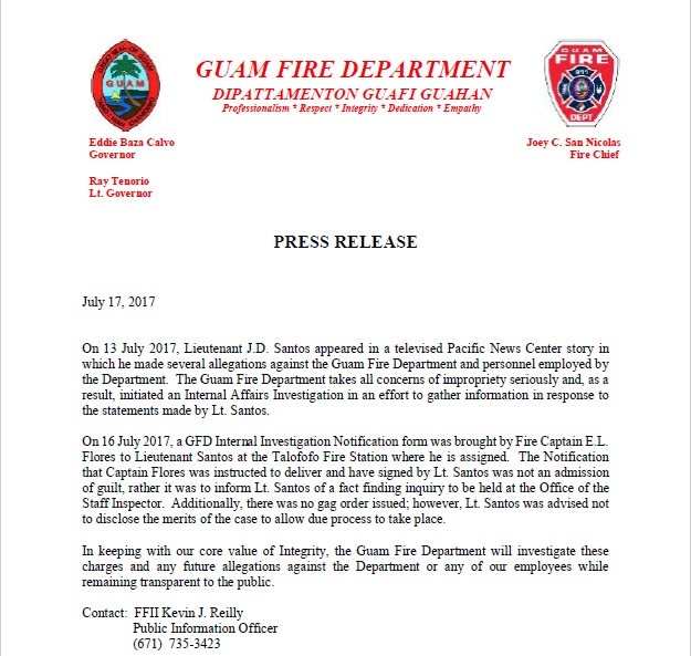 GFD releases statement following allegations of impropriety | PNC